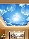 3d эффект кожи детский хоккей большое лобби плафон обои голубое небо и облака потолок изобразительного искусства декора