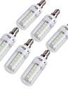 4W E14 / E26/E27 Ampoules Mais LED T 36 SMD 5730 228 lm Blanc Chaud / Blanc Froid Decorative AC 100-240 / AC 110-130 V 6 pieces