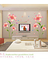 Romance Pink Lilies  Wall Stickers  Fashion / Florals Wall Stickers Plane Wall Stickers,pvc 60*90cm