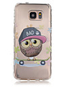 For Samsung Galaxy S7 Edge Transparent / Pattern Case Back Cover Case Owl TPU Samsung S7 edge / S7