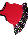 Dog Dress Red Dog Clothes Summer Polka Dots / Hearts Fashion