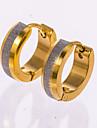 Серьги-гвоздики Серьги-кольца Золотой Бижутерия Свадьба Для вечеринок Повседневные 1 пара