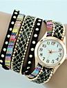 Женские Модные часы Часы-браслет Кварцевый Материал Группа Богемные Черный Белый Синий Красный Розовый Желтый Бежевый