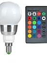 3W E14 Круглые LED лампы A50 1 Высокомощный LED 100-200 lm RGB На пульте управления AC 85-265 V 1 шт.