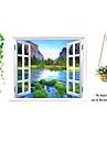 ботанический / Натюрморт / Мода / Цветы / Пейзаж / Отдых Наклейки Простые наклейки,PVC 90*60*0.1