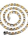 Ожерелье Ожерелья-цепочки Бижутерия Повседневные Модно Титановая сталь Серебряный 1шт Подарок
