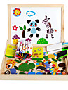 The New Magnetic Dpell Dpell Joy, Vhildren\'s Eooden Jigsaw Puzzle, Baby Educational Learning Toys-The Forest Animals