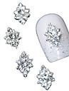 10PCS 차원 명확한 모조 다이아몬드 다이아몬드 꽃 DIY 액세서리 합금 네일 아트 장식