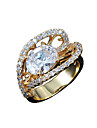 Guaranteed 100% women gold plated wedding Statement Ring