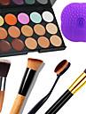 1PCS 15 Colors Camouflage Natural Contour Face Cream/Facial Concealer Makeup Palette+1 Contour Brush+1 Brush Pad