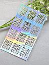 1pcs New Hollow Sticker Colorful Geometric Image Nail Manicure Design JV206-210