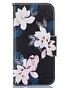 Для Кейс для iPhone 6 / Кейс для iPhone 6 Plus Бумажник для карт / Флип Кейс для Чехол Кейс для Цветы Мягкий Искусственная кожа Apple