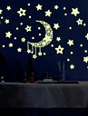Luminous Night Sky Moon With Stars Luminous Wall Stickers DIY Children\'s Bedroom Living Room Wall Decals