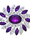 моды изысканный дешевый круглые булавки синий цветок женщины свадьба брошь
