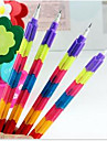 Korean Stationery Creative Rainbow Multifunction Bullet Color Pencil Deformable Section 8 Prizes 1PC