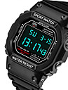 SANDA® Men\'s Fashion Rectangle Digital LCD Screen Waterproof Sport Watch Fashion Wrist Watch Cool Watch