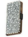 Для Кейс для  Samsung Galaxy Стразы / Флип Кейс для Чехол Кейс для Сияние и блеск Искусственная кожа Samsung J5