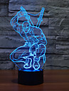 1pc 3 d levou colorido lampada visao de mudanca lampada atmosfera dom mesa cor luz noite