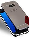 용 Samsung Galaxy S7 Edge 도금 케이스 뒷면 커버 케이스 단색 PC Samsung S7 edge / S7 / S6 edge plus / S6 edge / S6