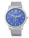 Hombre Reloj de Vestir Cuarzo Reloj Casual Acero Inoxidable Banda Plata Marca