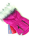 Dog Coat / Hoodie Red / Green / Blue / Purple / Rose Dog Clothes Winter Solid Keep Warm