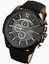 Hombre Reloj de Pulsera Cuarzo Reloj Casual Piel Banda Negro / Marron Marca-
