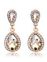 Boucles d\'oreille goutte Boucles d\'Oreille Mode Elegant Mariee Adorable Zircon Imitation Diamant Alliage Goutte Champagne Bijoux Pour