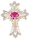 Мода женщин элегантный опал позолоченные крест формы черепа букет броши для женщин