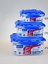 yooyee бренда BPA бесплатно наращиваемых контейнеры для хранения продуктов питания пластиковые квадратные 3шт / набор