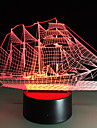 Creative 3D Lights 3D LED Night Light Acrylic Colorful Gradient Atmosphere Lamp Sailing Boat Shape Discoloration Lamp