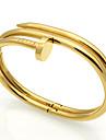Homens Feminino Casal Bracelete Enrole Pulseiras Aco Inoxidavel Duravel Moda Vintage Estilo Punk Ajustavel Adoravel JoiasPrata Dourado