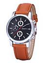 REBIRTH® Men\'s Women\'s Unisex Simple Dress Design PU Leather Strap Quartz Wrist Watch Casual Watch Fashion Watch
