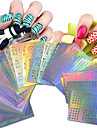 63 Стикер искусства ногтя Полностью накладные ногти Стразы для ногтей Мультипликация Фрукты Цветы Милый Свадьба макияж КосметическиеNail