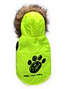 Коты / Собаки Плащи / Толстовки Красный / Зеленый Одежда для собак Зима Цветочные / ботанический Сохраняет тепло