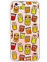 Owl Party Pattern Soft Ultra-thin TPU Back Cover For iPhone 6s Plus/6 Plus/6s/6/5s/5