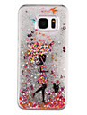 Para Samsung Galaxy S7 Edge Liquido Flutuante / Transparente / Estampada Capinha Capa Traseira Capinha Mulher Sensual Rigida PC SamsungS7