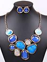 Набор украшений Ожерелье / серьги Сексуальные платья Мода европейский Синий Ожерелья Серьги Для Свадьба Для вечеринок Повседневные1
