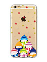 Back Cover Translucent Christmas Snowman TPU Soft Case Cover For AppleiPhone 7 7 plus iPhone 6 6 Plus iPhone 5