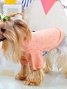 Cat Dog Shirt / T-Shirt Pajamas Dog Clothes Summer Spring/Fall Solid Cute Casual/Daily Green Blue Pink