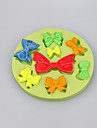 Different bow shapes chocolate DIY fondant cake decoration silicone mold kitchen bakeware Color Random