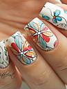 1set Nail Art Sticker Decalques de transferencia de agua Flor maquiagem Cosmeticos Prego Design Arte
