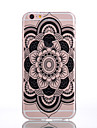 Для Кейс для iPhone 7 / Кейс для iPhone 7 Plus / Кейс для iPhone 6 Прозрачный / Рельефный / С узором Кейс для Задняя крышка Кейс для Цветы
