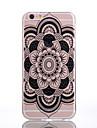 TPU Material Black Mandala Pattern Soft Shell Phone for iPhone 7 Plus/7/6s Plus / 6 Plus/6S/6/SE / 5s/5/5C