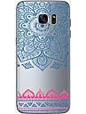 Pour Samsung Galaxy S7 Edge Transparente Autre Coque Coque Arriere Coque Forme Geometrique Flexible PUT pour SamsungS7 edge S7 S6 edge