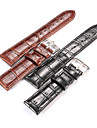 Frauen / Maenner \'s Alligatorpraegung echte Band 20mm 22mm Uhrenarmband Zubehoer Leder Uhr