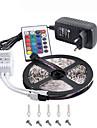 rgb ha condotto la striscia 5m 300 3528smd luce flessibile portato luci della decorazione del partito del nastro dc12v alimentatore 3a IR