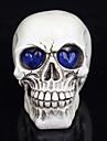 1шт Хэллоуин украшения игрушки новизны смолы черепов глаза светятся призраку ночной свет