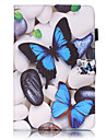 PU Leather Material Blue Butterfly Embossed attern Tablet Case for Samsung Galaxy Tab T815 T715 T580 T560 T550 T377 T280