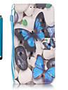 Для Кошелек / Бумажник для карт / со стендом Кейс для Чехол Кейс для Бабочка Твердый Искусственная кожа SamsungS7 edge / S7 / S6 edge /