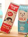 saco de caneta design textil caixa de leite